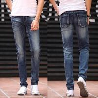 新款2018男士裤子夏季春夏男式士男装牛仔裤男韩版修身直筒休潮流