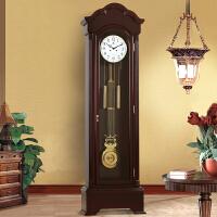 大号落地钟客厅欧式实木复古创意机械座钟机械机芯立钟居家装饰摆件