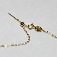 带字的项链 18k金带针路路通伸缩项链可调节穿心链O字链DIY珍珠配件 特价促销
