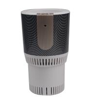 快速制冷杯智能车载冷热杯快速加热制冷汽车保温电热杯冷暖杯办公家用12V24V 白色 格子黑