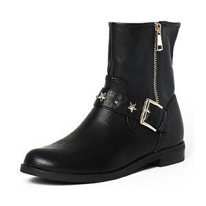 Teenmix/天美意专柜同款绵羊皮女中靴6Q160DZ6