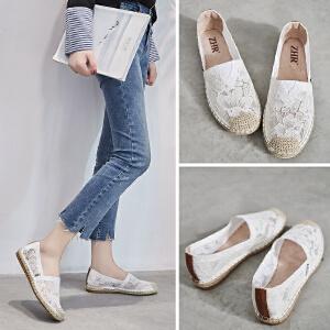 ZHR2018春季新款韩版渔夫鞋平底小白鞋布鞋乐福鞋潮单鞋学生女鞋AR07