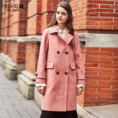 【3折到手价:183】毛呢外套女新款韩版显瘦学生小个子中长款茧型赫本大衣