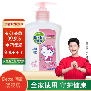Dettol滴露 抑菌洗手液hello kitty滋润倍护250g*2瓶