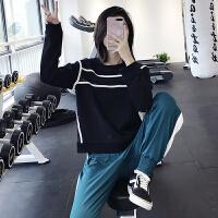 运动上衣女新款宽松跑步长袖瑜伽服卫衣网眼速干健身罩衫