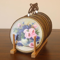 陶瓷餐垫 美式复古创意欧式餐垫 咖啡杯垫 盘子垫 锅垫隔热垫