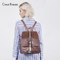 【1件3折,到手价:157.8元】Clous Krause ck包包女包新款双肩包女士复古优雅双肩包时尚百搭女士背包多