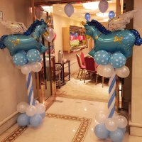 宝宝儿童周岁生日派对布置装饰用品结婚房百日宴路引五一气球立柱