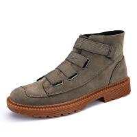 秋季男靴子潮流英伦短靴男士工装马丁靴防滑雪地靴高帮军靴内增高