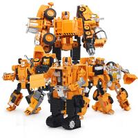 儿童组合体机器人模型男孩合金版变形玩具金刚工程车汽车人