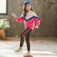 2019 女童套装春季新款儿童运动套装中大童洋气休闲两件套