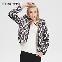 ERAL/艾莱依芭比系列连帽加厚保暖女士羽绒服短款新12046-EDAD