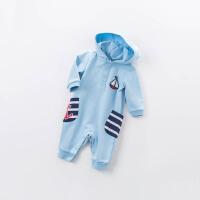 davebella戴维贝拉2018春季新款宝宝连体衣 婴幼儿爬爬服DBA6388
