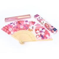 MiDeer弥鹿儿童扇子中国古风折扇随身便携折叠扇子夏季卡通小公主