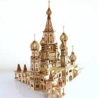 木质3d立体拼图玩具力力模型拼装高难度积木组装大别墅城堡 大城堡 激光版 #20