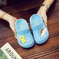 儿童拖鞋 男女童洞洞鞋夏季新款可爱卡通男宝宝沙滩鞋子防滑软底小孩包头凉拖鞋