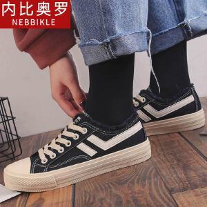 韩版板鞋女2018新款帆布鞋潮流运动休闲鞋可爱鞋子