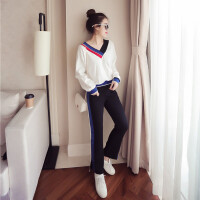 运动套装女春秋装新时尚学生韩版秋季女装休闲宽松两件套潮