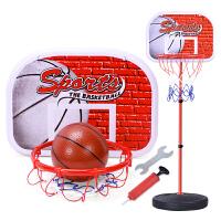 儿童铁杆篮球架可升降投篮框家用室内宝宝皮球男孩幼儿园球类玩具