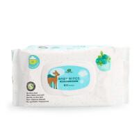 英国小树苗婴儿手口湿巾专用宝宝低敏柔湿巾纸宝宝儿童湿纸巾80抽