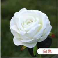 5支装高档仿真玫瑰花束绒布绢布假花创意室内摆件婚庆装饰