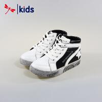 红蜻蜓童鞋男女童小中大童加绒保暖高帮运动鞋棉鞋棉靴