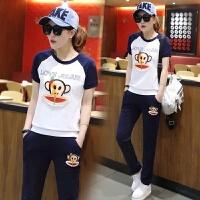 运动套装女士夏装新休闲韩版学生卫衣短袖长裤跑步服潮流时尚