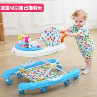 宝宝学步车可坐手推车婴儿学步车6-12/18个月男宝宝女孩儿童手推可坐多功能 豪华版 枚红色 短推把
