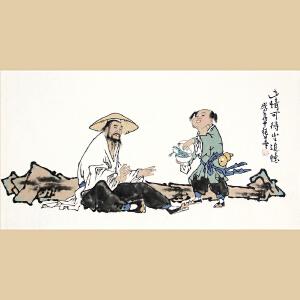 人物国画《此情可待半追忆》中国美术家协会会员许艳华作品【真迹R1088】