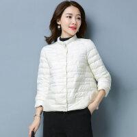 小款羽绒服短款轻薄冬款女装欧货时尚白鸭绒潮