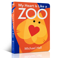 英文原版 儿童想象创造力入门书 My Heart is Like a Zoo Michael Hall 迈克尔・霍尔