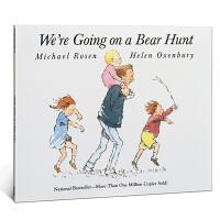 英文原版绘本 We're are Going on a Bear Hunt我们一起去猎熊亲子育儿亲情父爱趣味故事进口童