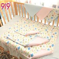 久爱久(9i9)婴儿尿垫竹纤维三层加厚宝宝防水隔尿垫