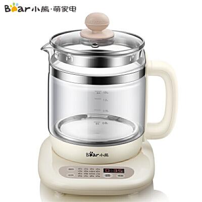 小熊(Bear)养生壶1.5L迷你玻璃电水壶电热水壶 多功能煮茶壶YSH-C15K1 支持* 新款上市 16大功能 9.5小时预约 1.5L大容量