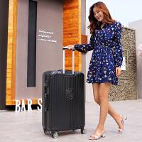 特大容量32寸行李箱男士拉杆箱大号密码箱出国超大旅行箱扩展皮箱 32寸 带杯架+挂扣