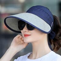 遮阳帽子女夏天潮出游百搭草帽海边沙滩大沿太阳帽