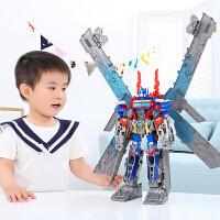 儿童男孩玩具天火飞翼马甲合体汽车机器人模型带车厢
