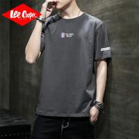 Lee Cooper2020新款夏季男士短袖t恤简约百搭潮流潮牌宽松衣服体恤男
