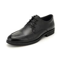 【大牌日3折】星期六男鞋(ST&SAT)19年专柜同款头层牛皮轻便透气商务正装皮鞋上班鞋男SS91125571 黑色