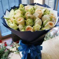 红蓝香槟玫瑰鲜花速递全国广州深圳中山珠海同城花店生日礼物鲜花