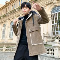 呢子大衣男冬季韩版英伦风中男士长款大衣潮流帅气风衣加厚外套潮