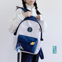 2020年新款日系可爱ins书包女韩版高中大学生防水牛津布双肩背包