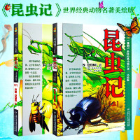 【授权】全2册 昆虫记世界动物名著 美绘版上下册 小学生课外阅读书 儿童青少年版阅读书 法布尔著王光中国少年儿童出版社