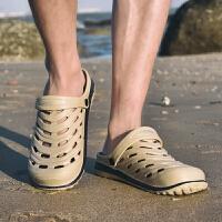夏天包头沙滩凉拖鞋新品户外休闲洞洞鞋两穿凉鞋