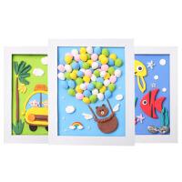 儿童diy立体相框画材料包超轻粘土彩泥幼儿手工制作贴画套装玩具