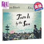 【中商原版】海边小镇 英文原版 Town Is by the Sea 2018年凯特格林威金奖 获奖绘本 Sydney