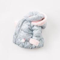 [领90元卷]夹棉戴维贝拉冬季新款女童宝宝棉衣棉服DBM8186