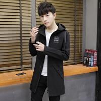 男士外套春秋季2018新款韩版潮流修身夹克帅气学生风衣男中长薄款