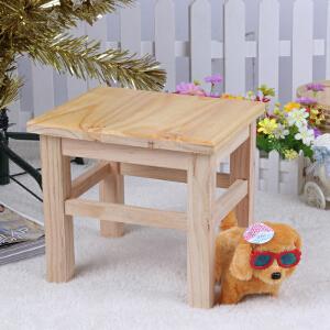 门扉 凳子 实木小板凳子家用小方凳成人矮木板凳田园换鞋凳 儿童板凳
