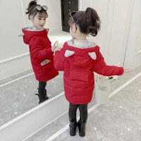 童装2020冬季新款女童熊耳朵棉袄儿童夹棉保暖棉衣中大童棉服